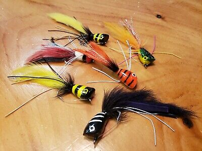 6 Seaducer Polarfiber #2 Red// White East Cut Saltwater Flies with weed guard