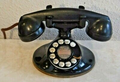 Western Electric 202 Oval Base Working Vintage Telephone with F1 Handset