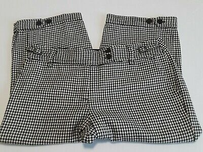 """NWT Ann Taylor Loft """"Ann"""" Blk/Wht Houndstooth Fully Lined Size 10 Knickers"""