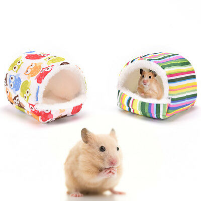 Small animal bed cave warm cute nest for hamster guinea pig squirrel hedgehogFES