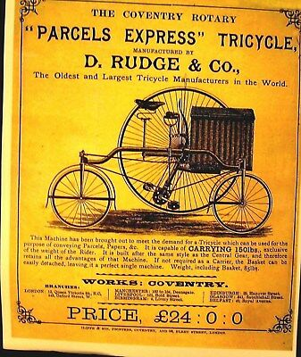 "Late 549ms Bicicletas Anuncio Póster The Coventry Giratorio ""Paquetes Expreso"" D"