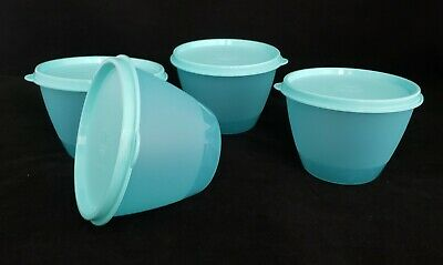 FREE SHIPPING Tupperware Refrigerator Bowls Set 4 Seals storage nest lunch NEW