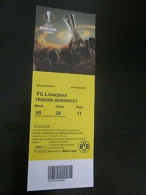 Borussia Dortmund - FC Liverpool Euro League 2015/16 , SAMMLER TICKET used
