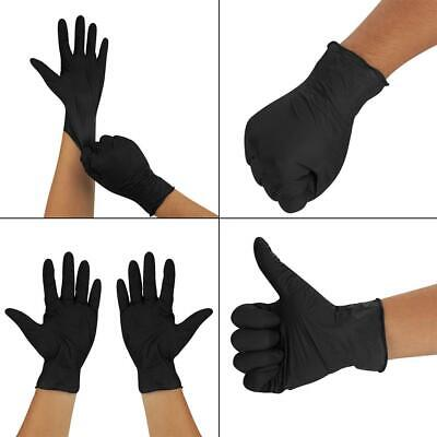 200 Black Nitrile Work Glove Disposable Gloves Powder Free Latex Tattoo Mechanic
