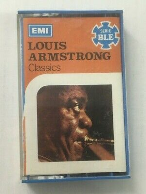 """Louis Armstrong """"Classics"""" Tape Cassette *EMI 3C 234 04981 M* 1972 Italy Import"""