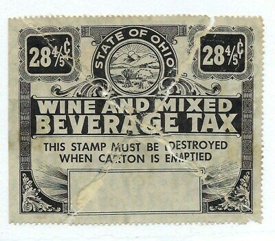 "Us Stamp ""Ohio Wine And Mixed Beverage Tax"" See Scan Torn"