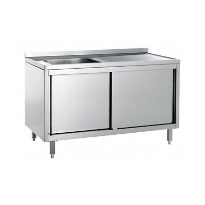 Sink Stainless Steel Closed - Tub Right - Width 140 CM