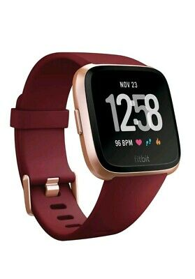 Fitbit Versa SmartWatch, Limited Edition Ruby, Small-Large Bands (FB504RGRD) NEW