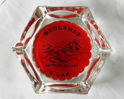 Vintage Vampire Valley, Badlands, South Dakota SD Souvenir Ashtray