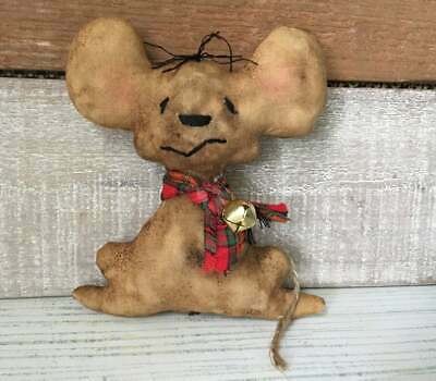 Primitive Mouse Christmas Ornament, Mouse Bowl Filler