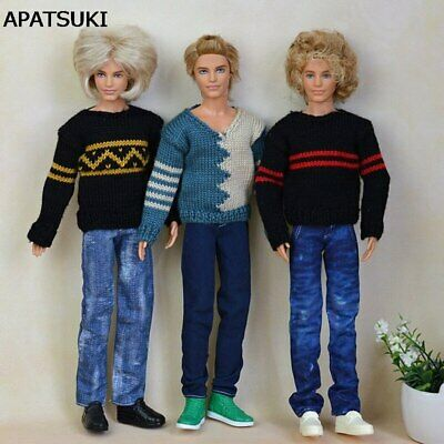 High Quality Handmade Denim For Ken Boy Doll Jeans Long Pants For Boyfriend Ken