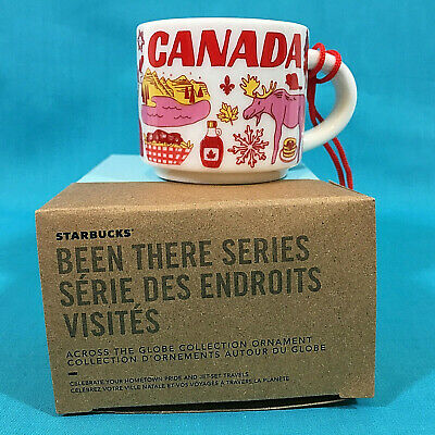 Starbucks Mini Cup Ornament Canada New Christmas 2019 Been There Series