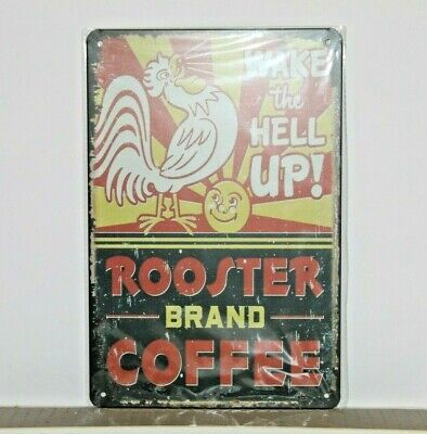 RBCMS1 Rooster Brand Coffee Metal Sign New 30 cm H X 20 cm W