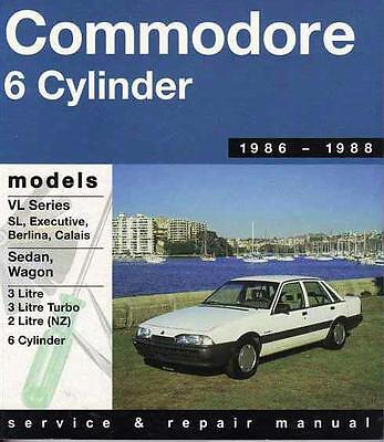 Holden Commodore VL (6 cyl) 1986- 1988 Gregorys Service & Repair Workshop Manual
