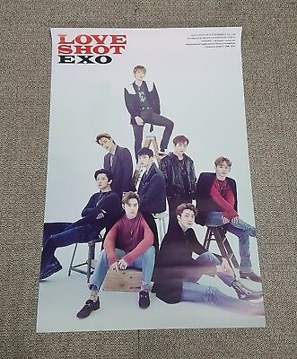 K-POP EXO 5th Repackage Album [LOVE SHOT] D Ver. OFFICIAL POSTER -NEW-