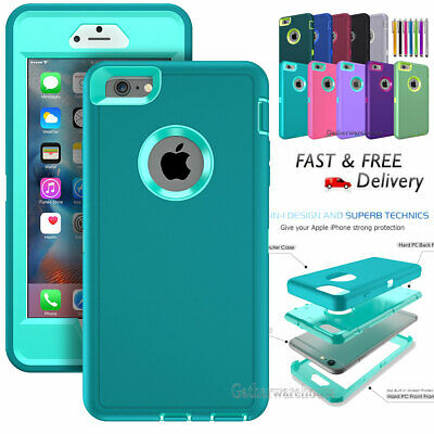 Hybrid Shockproof Hard&Soft Cover Case For Apple iPhone 6 Plus iPhone 6s Plus