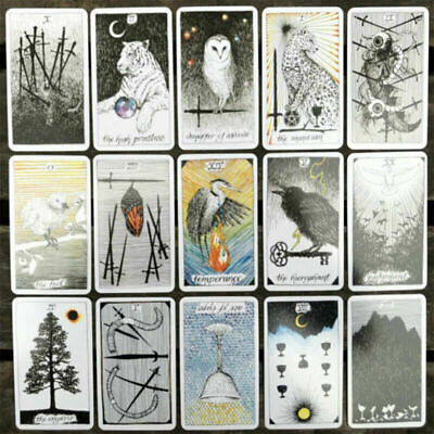 78pcs the Wild Unknown Tarot Deck Rider-Waite Oracle Fortune Telling Cards W9X6S