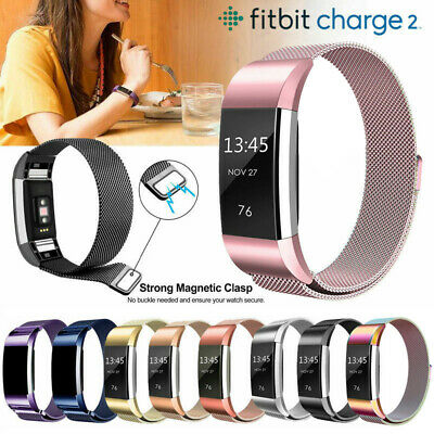 For Fitbit Charge 2 Band Metal Stainless Steel Milanese Loop Wristband Strap