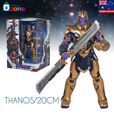 20cm Large Marvel Avengers Endgame Armor Thanos Action Figure Toys With Sword