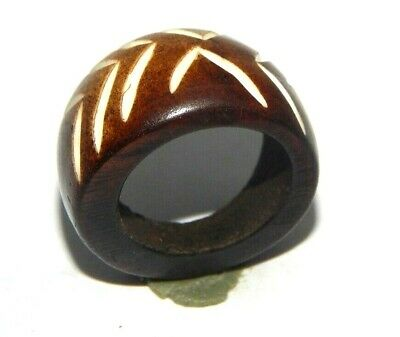 100% Natural Bone Designer Carving Handmade Fashion Jewelry Ring Size 8.5 R416