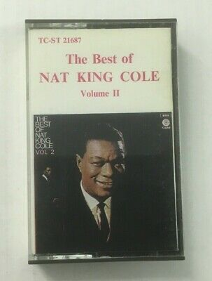 """Nat King Cole """"The Best Of Vol.2"""" Tape Cassette *Capitol TC-ST 21687* Tested"""