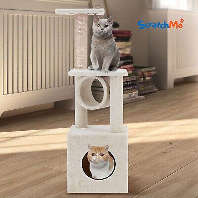 ScratchMe Cat Tree Condo Climbing Tower & Hammock Scratching Post with Perches