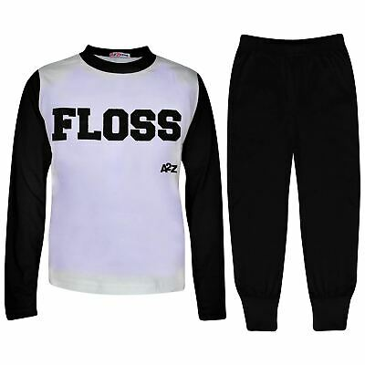 Kids Girls Boys Pyjamas Floss A2Z Black Fashion Night Loungewear PJS Outfit Sets