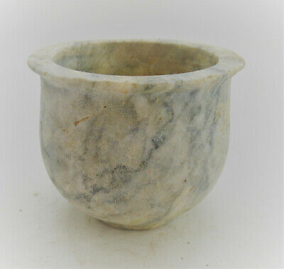 Ancient Near Eastern Stone Carved Ritual Cup Circa 1000Bce