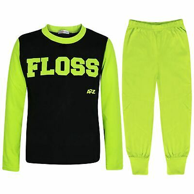 Kids Girls Boys Pyjamas Floss A2Z Lime Fashion Night Loungewear PJS Outfit Sets
