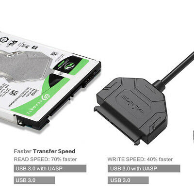 """USB 3.0 to 2.5"""" SATA III Hard Drive Adapter Cable For 2.5"""" SSD HDD Converter"""