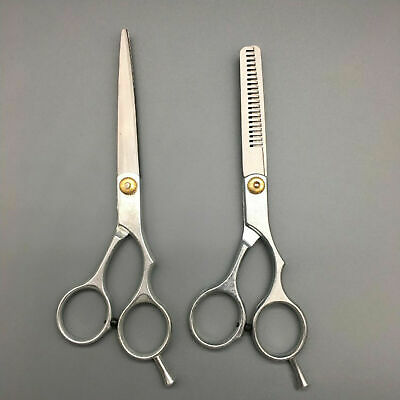 "6"" Professional Hair Cutting and Thinning Scissors Set + Carry Case"