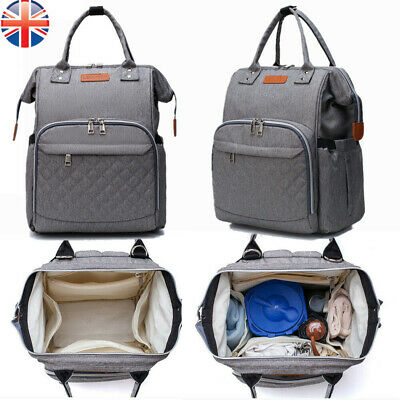 LEQUEEN Multi-Function Tote Baby Mummy Bag Changing Bag Diaper Nappy Backpack