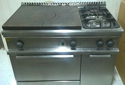 ELECTROLUX Solid Top  2 Burner  Commercial Catering Natural Gas Oven Cooker Hob
