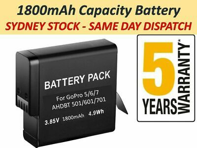 1800mAh AHDBT-701Rechargeable Camera Battery for Gopro Hero 7/ 6/ 5 Camera