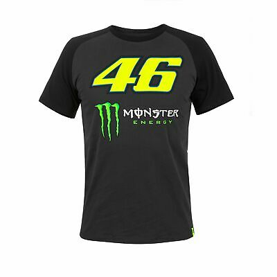2018 VR46 Valentino Rossi #46 MotoGP Mens T-Shirt Dual Dark Grey Monster Energy