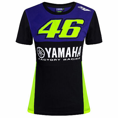 2019 Valentino Rossi VR46 Womens T-Shirt Ladies Girls Yamaha Factory Racing