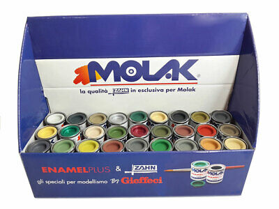 COLORI MOLAK ENAMEL 18 ml + ESPOSITORE GLOSS SATIN METALLIC MATT HUMBROL REVELL