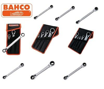 Bahco S4RM Twin Ended Reversible Ring Bi-Hex Ratchet Spanners, All Sizes & Sets