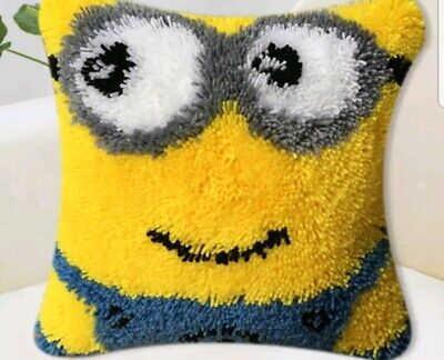 Minion latch hook kit measure 45 cm x 45 cm With printed canvas
