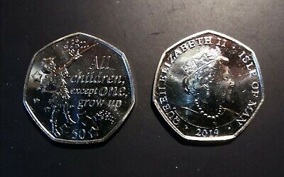2019 Peter Pan 50p Iom coin, New Release from sealed bag