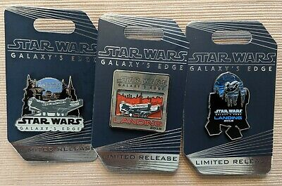 Disney STAR WARS Galaxy's Edge LIMITED RELEASE Millennium Falcon R2-D2 3 Pin Set