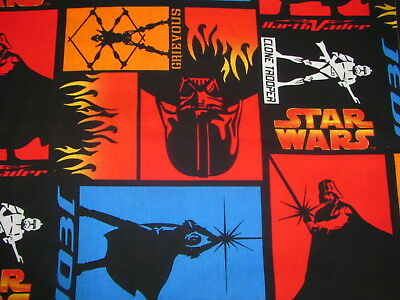 "14.5"" x 24"" Star Wars Darth Vader Clone Trooper Jedi Luke Patch on Cotton Fabric"
