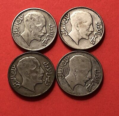 4 Silver Coins 1931 ( 50 Fils)..In Average Condition.