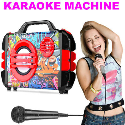 Karaoke Machine Portable Bluetooth Music Player, USB, Home Singing Microphone