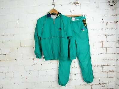 """Vintage 80s Women's Adidas Full Tracksuit Green - Made in Macao - UK 8 30/32"""""""