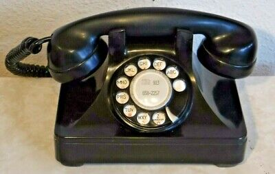 The North Electric Galion Bakelite Rotary Dial Working Desk Set Vtg Telephone