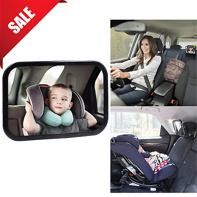 GREY LARGE ADJUSTABLE VIEW REAR//BABY//CHILD SEAT CAR SAFETY MIRROR HEADREST MOUNT
