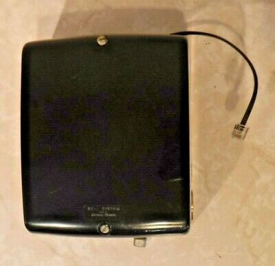 Western Electric 685 A Black Ringer Box with Modular Cording - Wired & Works!