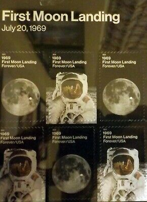 STAMPS - New 1969:  First Moon Landing Pane of 24