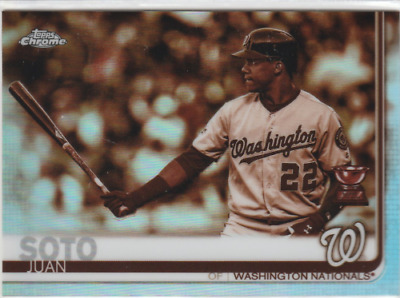 2019 Topps Chrome Sepia Refractors #155 JUAN SOTO! WASHINGTON NATIONALS!